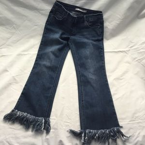 Tractor Girls Fringe Distressed Jeans Size 12